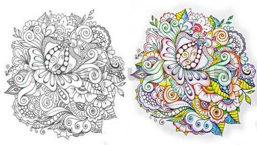 Раскраски для взрослых помогают убрать стресс